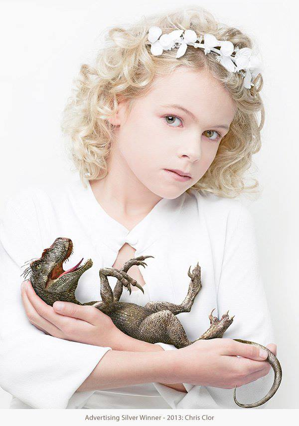 girl and baby dino