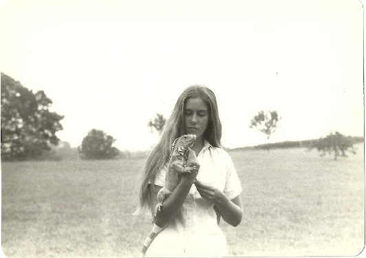 me at 16 with iguana